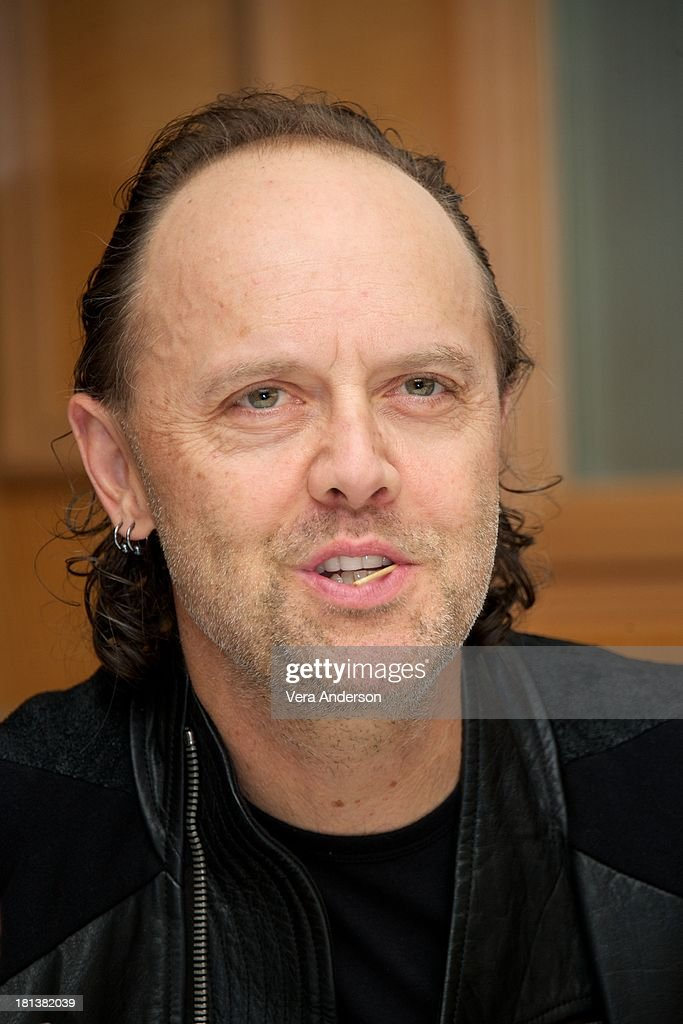 <a gi-track='captionPersonalityLinkClicked' href=/galleries/search?phrase=Lars+Ulrich&family=editorial&specificpeople=209281 ng-click='$event.stopPropagation()'>Lars Ulrich</a> at the 'Metallica: Through The Never' Press Conference at the Fairmont Hotel on September 17, 2013 in San Francisco, California.