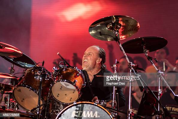 Lars Ulrich from Metallica performs at 2015 Rock in Rio on September 19 2015 in Rio de Janeiro Brazil