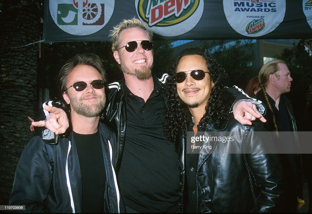 Lars Ulrich, James Hetfield and Kirk Hammett of Metallica