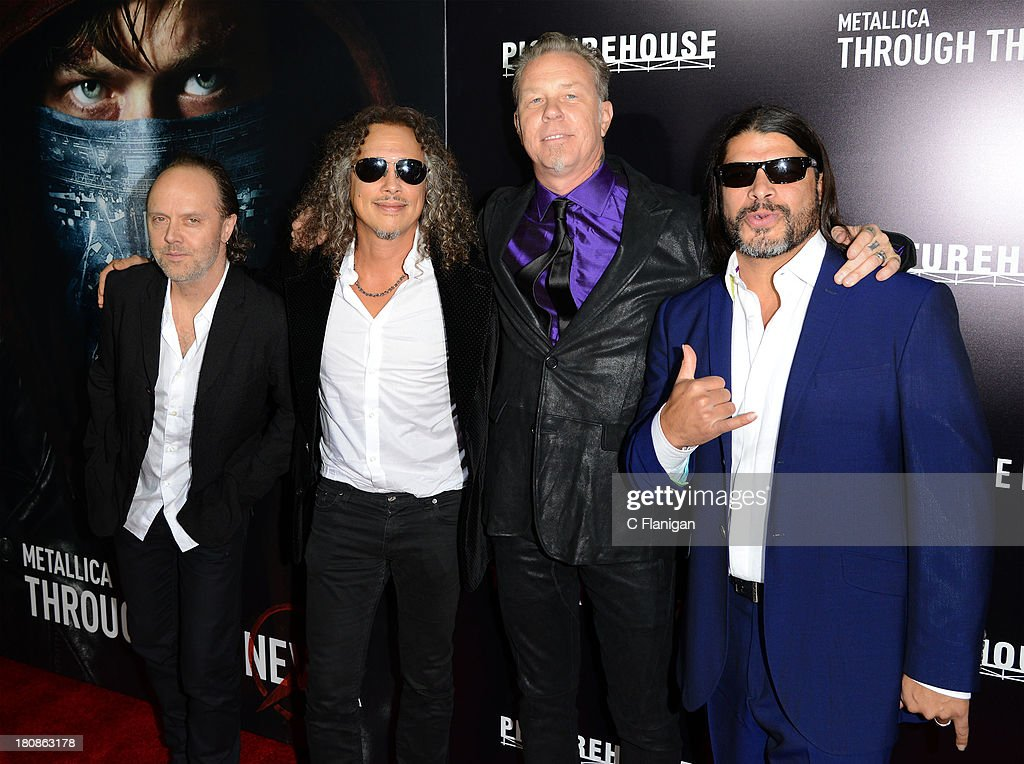 <a gi-track='captionPersonalityLinkClicked' href=/galleries/search?phrase=Lars+Ulrich&family=editorial&specificpeople=209281 ng-click='$event.stopPropagation()'>Lars Ulrich</a>, <a gi-track='captionPersonalityLinkClicked' href=/galleries/search?phrase=Kirk+Hammett&family=editorial&specificpeople=204665 ng-click='$event.stopPropagation()'>Kirk Hammett</a>, <a gi-track='captionPersonalityLinkClicked' href=/galleries/search?phrase=James+Hetfield&family=editorial&specificpeople=178297 ng-click='$event.stopPropagation()'>James Hetfield</a>, and <a gi-track='captionPersonalityLinkClicked' href=/galleries/search?phrase=Robert+Trujillo&family=editorial&specificpeople=213071 ng-click='$event.stopPropagation()'>Robert Trujillo</a> of Metallica attend the U.S. premiere of 'Metallica: Through The Never' at the AMC Metreon on September 16, 2013 in San Francisco, California.