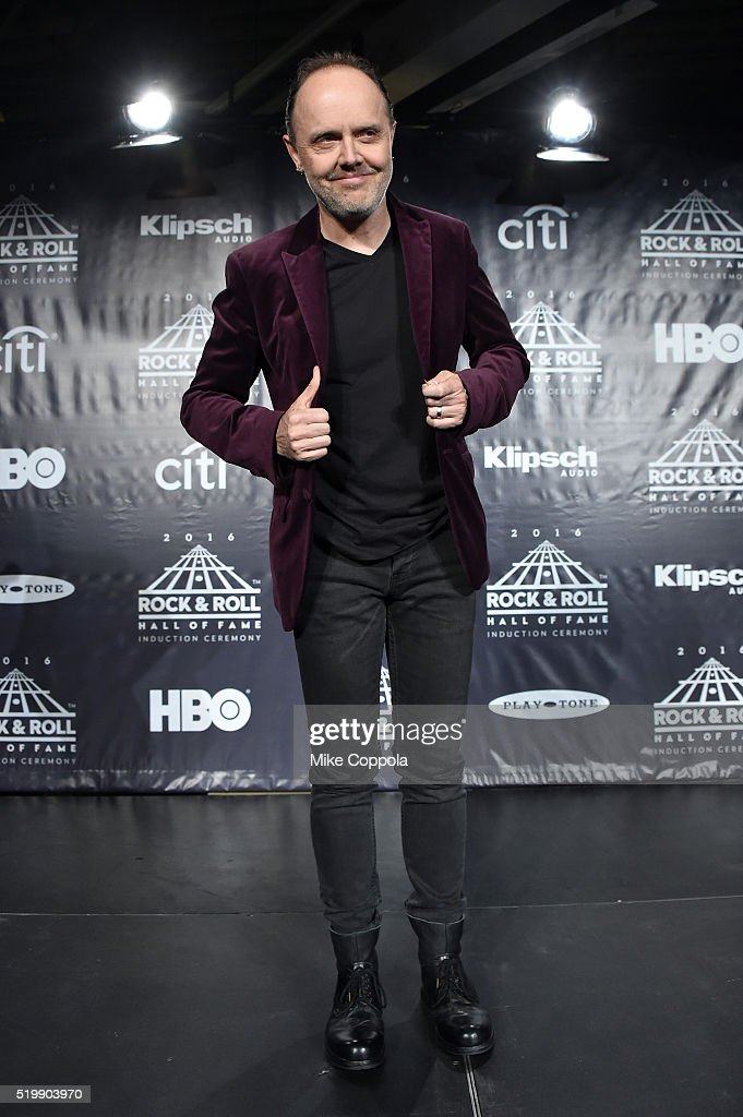 Lars Ulrich of Metallica attends the 31st Annual Rock And Roll Hall Of Fame Induction Ceremony at Barclays Center on April 8, 2016 in New York City.