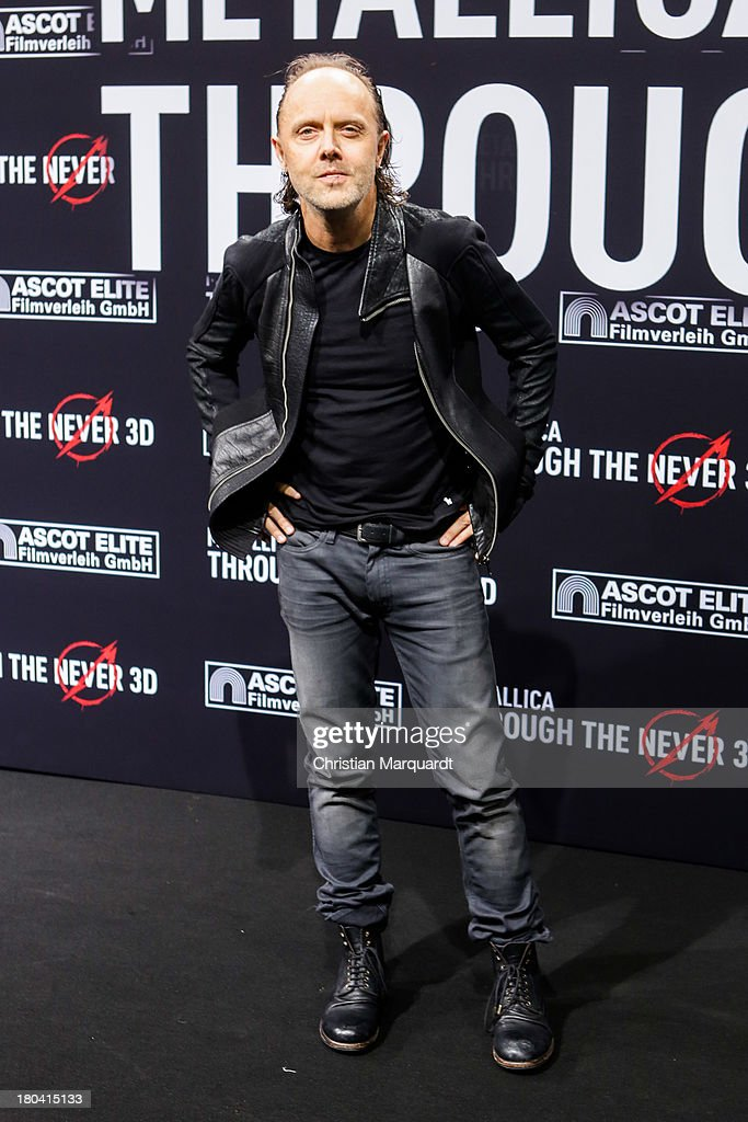 Lars Ulrich of Metallica attends the German premiere of 'Metallica - Through The Never' on September 12, 2013 in Berlin, Germany.