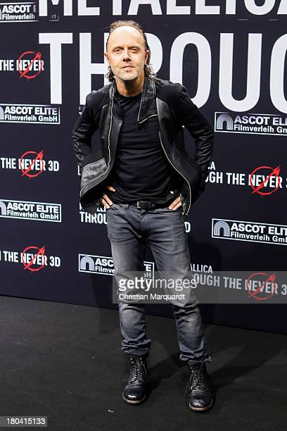Lars Ulrich of Metallica attends the German premiere of 'Metallica Through The Never' on September 12 2013 in Berlin Germany