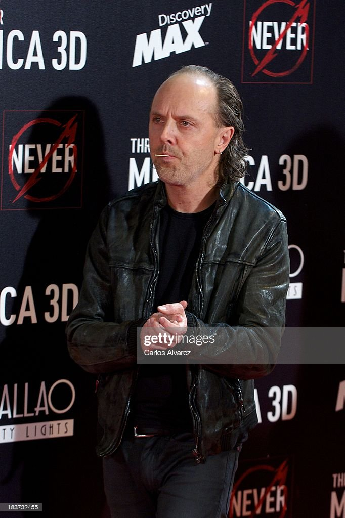 Lars Ulrich of Metallica attends the 'Metallica: Through The Never' premiere at the Callao Cinema ME on October 9, 2013 in Madrid, Spain.