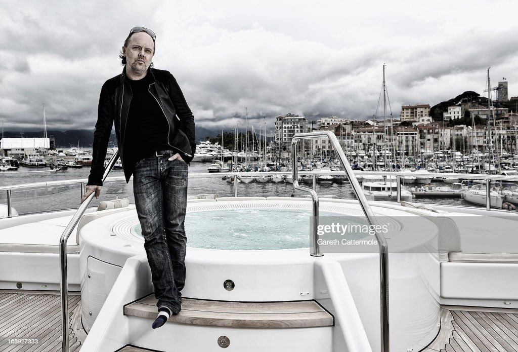 <a gi-track='captionPersonalityLinkClicked' href=/galleries/search?phrase=Lars+Ulrich&family=editorial&specificpeople=209281 ng-click='$event.stopPropagation()'>Lars Ulrich</a> of Metallica during a portrait session at The 66th Annual Cannes Film Festival at the Palais des Festivals on May 16, 2013 in Cannes, France.