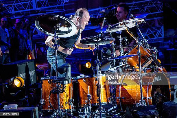 Lars Ulrich of Metallica performing at X Games at Circuit of the Americas on June 6 2015 in Austin Texas