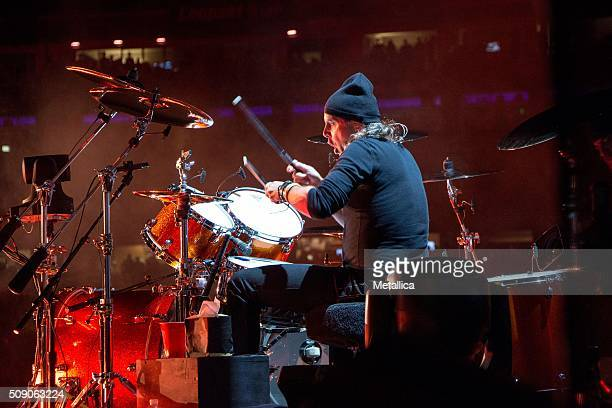 Lars Ulrich of Metallica performing The Night Before at ATT Park on February 6 2016 in San Francisco CA