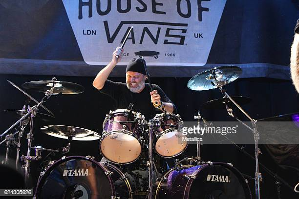 Lars Ulrich of Metallica performs at House of Vans on November 18 2016 in London United Kingdom
