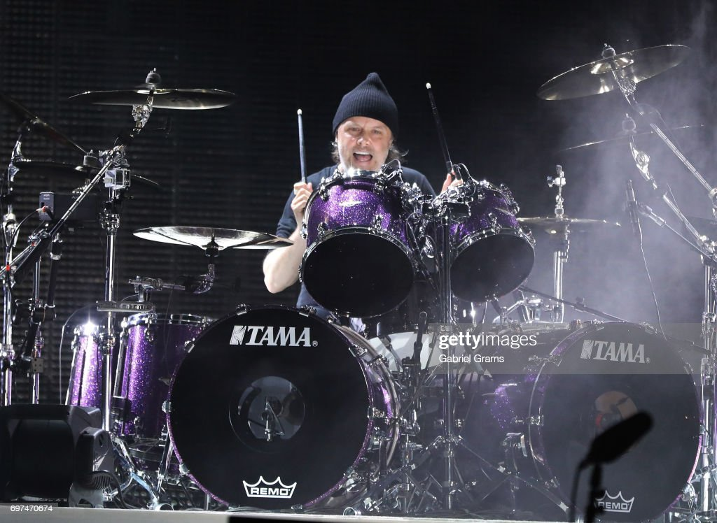 Lars Ulrich of Metallica performs at Soldier Field on June 18, 2017 in Chicago, Illinois.