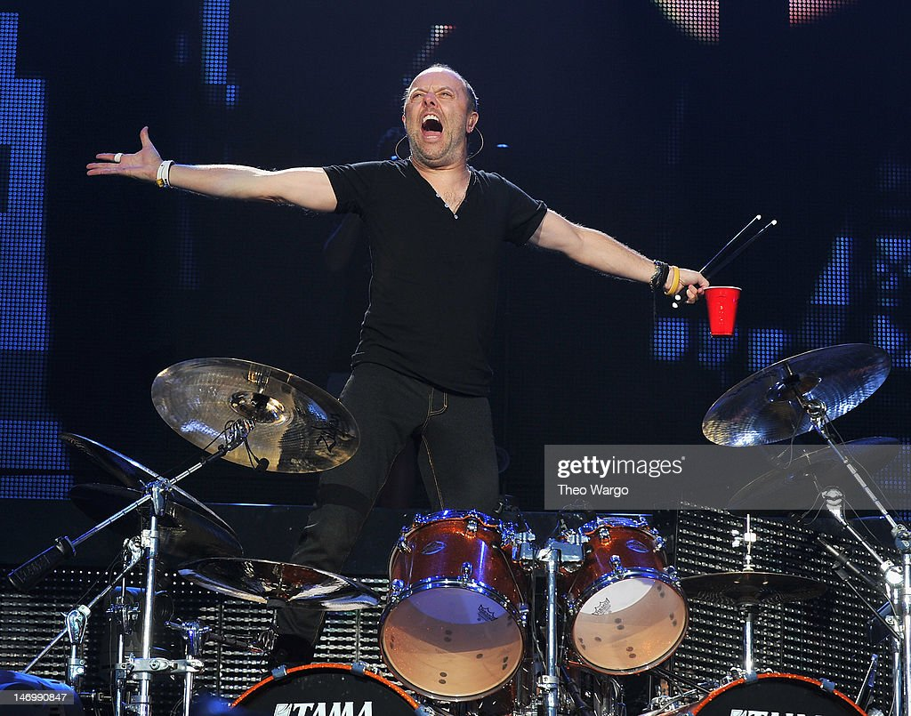 <a gi-track='captionPersonalityLinkClicked' href=/galleries/search?phrase=Lars+Ulrich&family=editorial&specificpeople=209281 ng-click='$event.stopPropagation()'>Lars Ulrich</a> of Metallica performs during the 2012 Orion Music + More Festival at Bader Field on June 24, 2012 in Atlantic City, New Jersey.