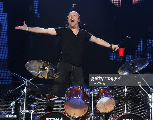 Lars Ulrich of Metallica performs during the 2012 Orion Music More Festival at Bader Field on June 24 2012 in Atlantic City New Jersey