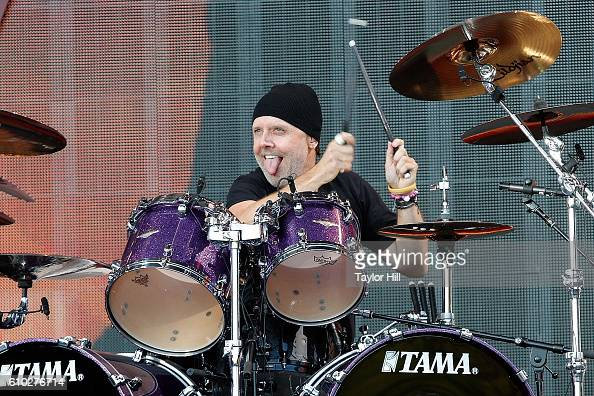 Lars Ulrich of Metallica performs during the 2016 Global Citizen Festival at Central Park on September 24 2016 in New York City