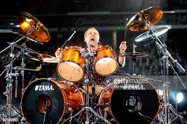 Lars Ulrich of Metallica performs in support of the band's 'Death Magnetic' release at ARCO Arena on December 8 2009 in Sacramento California