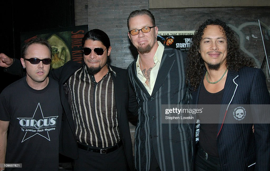 Lars Ulrich, Robert Trujillo, James Hetfield, and Kirk Hammett of Metallica