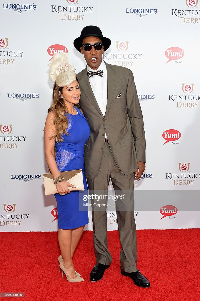 Larsa Pippen (L) and Scottie Pippen attend 140th Kentucky Derby at Churchill Downs on May 3, 2014 in Louisville, Kentucky.