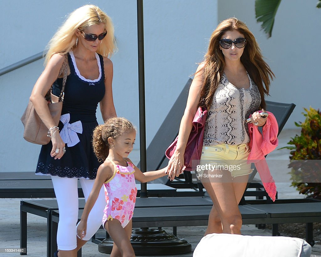 Larsa Pippen and Sophia Pippen are sighted on October 3, 2012 in Miami, Florida.