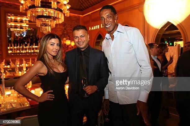 Larsa Pippen Kamal Hotchandani and Scottie Pippen attend Louis XIII Cognac Hosts Celebration In Honor Of Haute Living CEO Kamal Hotchandani's 40th...