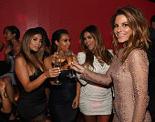 Larsa Pippen Kim Kardashian West Carla DiBello and Maria Menounos attend Hakkasan Las Vegas Nightclub inside MGM Grand on July 22 2016 in Las Vegas...