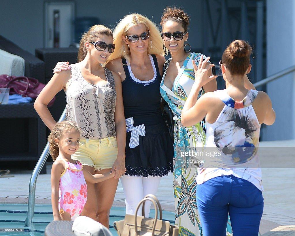 Larsa Pippen, Sophia Pippen and La La Vazquez are sighted on October 3, 2012 in Miami, Florida.