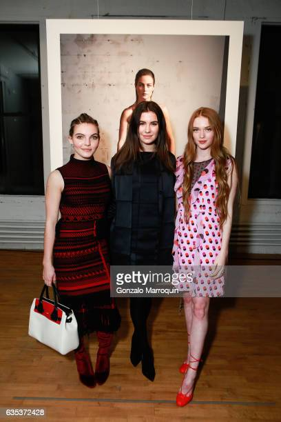 Larsen Thompson and Camren Bicondova attended the Zac Posen Presentation during New York Fashion Week at 1317 Laight Street on February 14 2017 in...