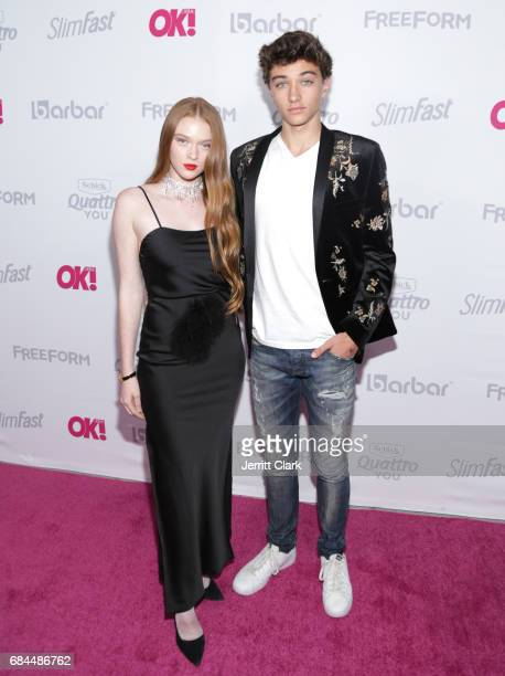 Larsen Thompson and Gavin Casalegno attend OK Magazine's Summer KickOff Party at W Hollywood on May 17 2017 in Hollywood California