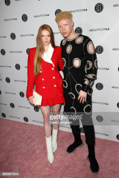 Larsen Thompson and Shaun Ross attend Day 1 of the 5th Annual Beautycon Festival Los Angeles at the Los Angeles Convention Center on August 12 2017...