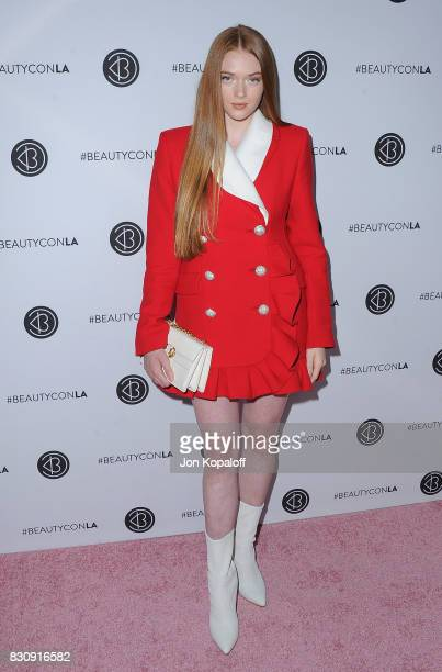 Larsen Thompson arrives at the 5th Annual Beautycon Festival Los Angeles at Los Angeles Convention Center on August 12 2017 in Los Angeles California
