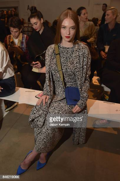 Larsen Thompson attends Barragan fashion show during New York Fashion Week The Shows at Gallery 2 Skylight Clarkson Sq on September 12 2017 in New...