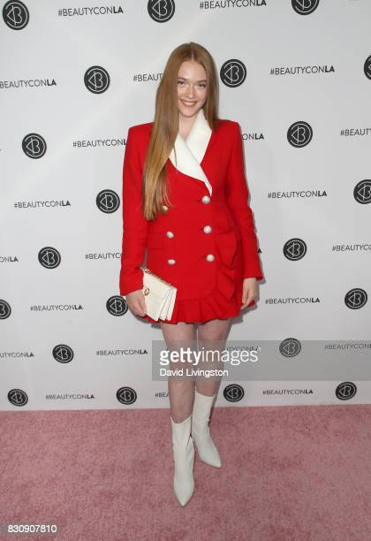 Larsen Thompson attends Day 1 of the 5th Annual Beautycon Festival Los Angeles at the Los Angeles Convention Center on August 12 2017 in Los Angeles...
