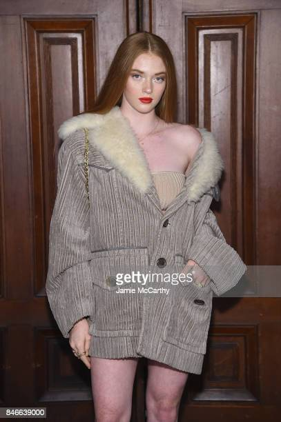 Larsen Thompson attends Marc Jacobs SS18 fashion show during New York Fashion Week at Park Avenue Armory on September 13 2017 in New York City