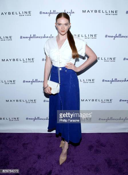 Larsen Thompson attends Maybelline New York Celebrates First Ever Cobranded Product Collection With Beauty Influencer Shayla Mitchell at 1OAK on...
