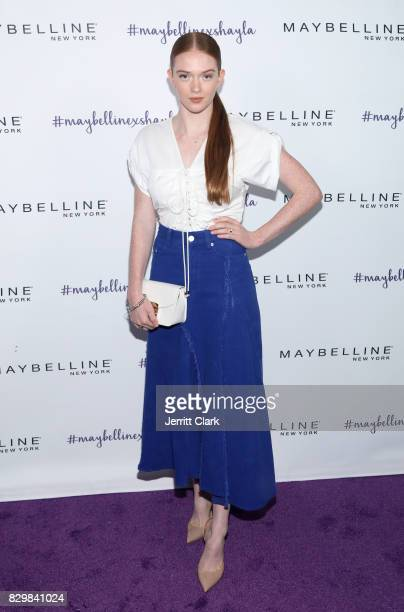 Larsen Thompson attends Maybelline's Los Angeles Influencer Launch Event at 1OAK on August 10 2017 in West Hollywood California