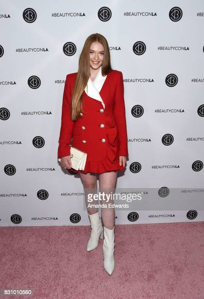 Larsen Thompson attends the 5th Annual Beautycon Festival Los Angeles at the Los Angeles Convention Center on August 12 2017 in Los Angeles California