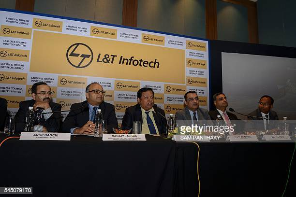 Larsen Toubro Group Chairman AM Naik speaks during a press briefing in Ahmedabad on July 5 2016 / AFP / SAM PANTHAKY