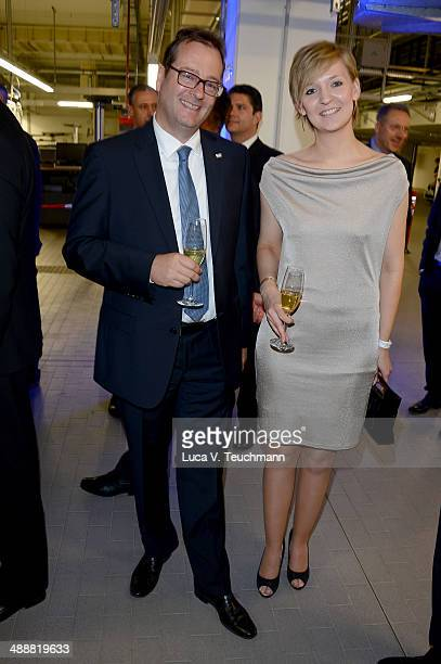 LarsEric Peters and Melanie Stiemert attend Housewarming at BMW Dealership on May 8 2014 in Berlin Germany