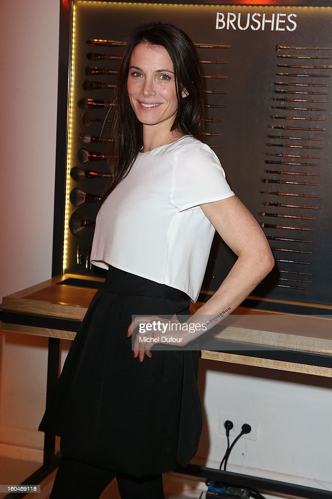 Lartitia Fourcade attends the Make Up For Ever Party at Palais De Tokyo on January 31, 2013 in Paris, France.