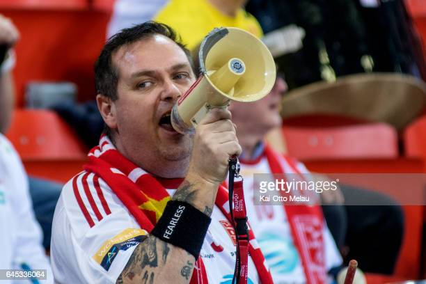 Larvik HK supporter in the Women's EHF Champions league match between Larvik HK and CSM Bucuresti on February 25 2017 in Larvik Norway