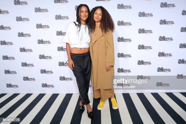 Lary Poppins and Joy Denalane attend the Zalando A/W 17 women fashion show during the Bread Butter by Zalando at BB Stage arena Berlin on September 1...