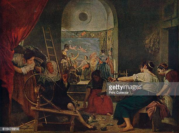 Las Hilanderas' Traditionally believed to depict women workers in the tapestry workshop of Santa Isabel iconography suggests Ovid's Fable of Arachne...