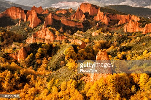 Las Medulas natural park in Leon Spain : Stockfoto