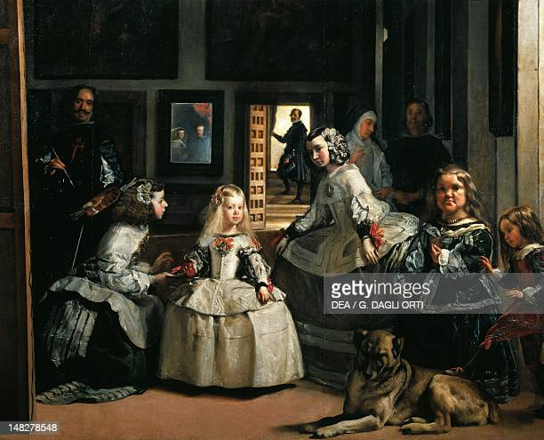 Las Meninas by Diego Velazquez oil on canvas 318x276 cm Detail Madrid Museo Del Prado