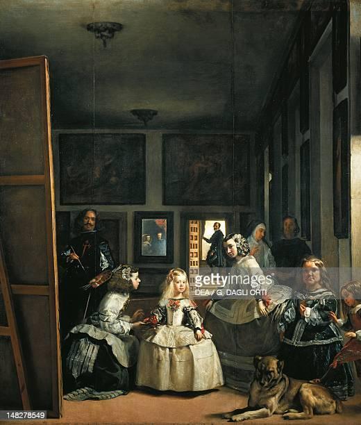 Las Meninas by Diego Velazquez oil on canvas 318x276 cm Madrid Museo Del Prado