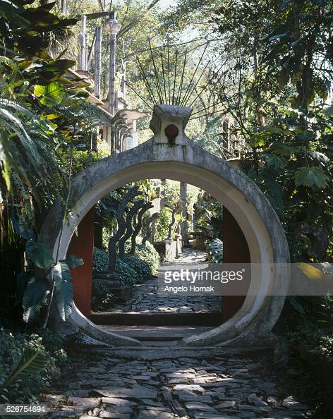 Las Pozas is a surrealist sculpture garden built in the jungle of Xilitla Mexico by Edward James in the 1960s and 1970s