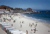 Las Salinas beach in Vina del Mar Chile South America circa 1965
