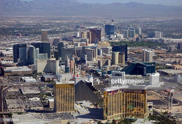 Las Vegas Boulevard also known as the Las Vegas Strip including the Mandalay Bay the Luxor MGM Grand other hotels and casinos that are part of the...