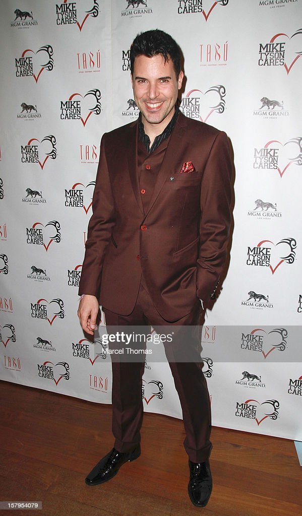 Las Vegas headliner Frankie Moreno attends the Launch Party for 'Mike Tyson Cares Foundation' at Tabu Ultra Lounge at MGM Grand on December 7, 2012 in Las Vegas, Nevada.