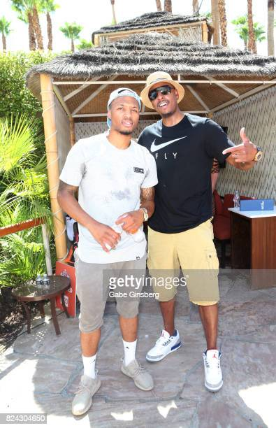 Las Vegas is hotter than ever this weekend with celebs including NBA player Damian Lillard and former NBA player Paul Pierce attending JBL Fest an...