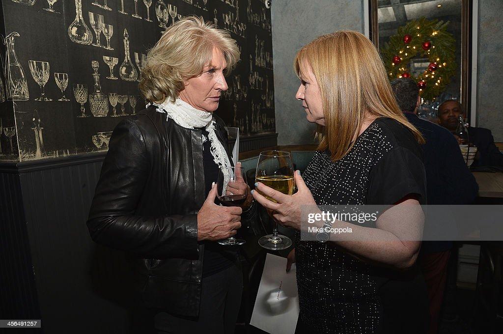 Las Vegas Metropolitan Police Department Lieutenant Karen Hughes and Director Jane Wells attend the premier of 'TRICKED' on December 13 2013 in New...