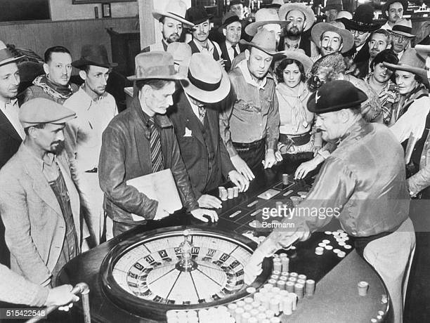 Roulette wheels dice cards bars dance hall girls old fashioned stage coaches bewhiskered men and bustlegirded ladies added and glamor to the fourday...