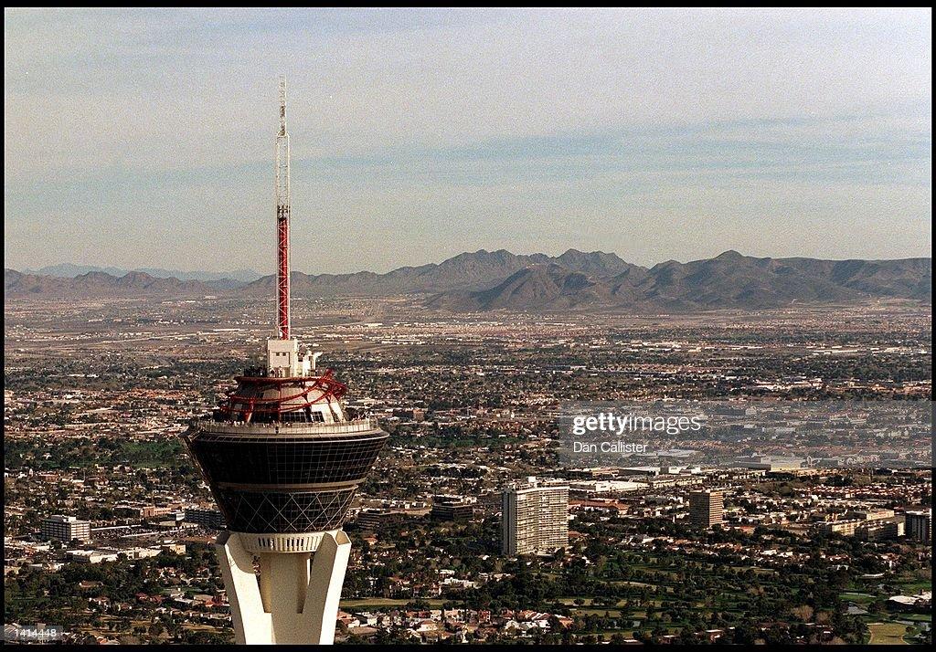 E367077. 04/04/00. Las Vegas, Nevada. The Stratosphere Hotel on the Las Vegas Strip in the Nevada Desert. Picture by DAN CALLISTER Online USA Inc